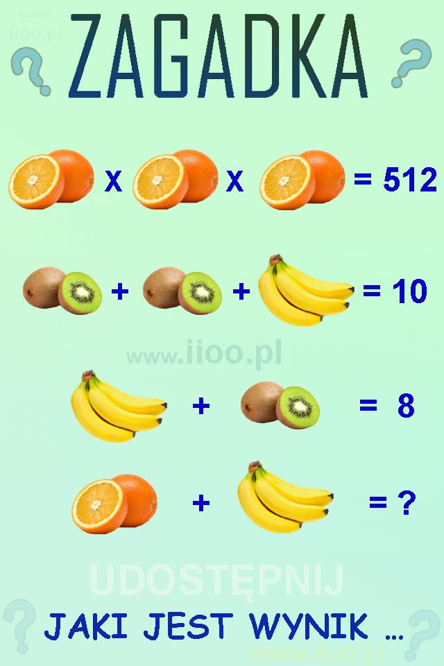 Owocowa zagadka logiczna