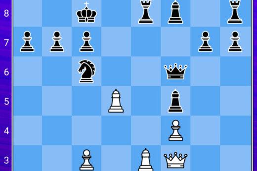 dwuchodówka, zagadka szachowa, zagadka logiczna, ciekawa zagadka na logikę, jaki ruch daje mat Koniecznie sprawdź inne zagadki szachowe - w naszym dziale z zagadkami; lub popraw sobie humor w dziale